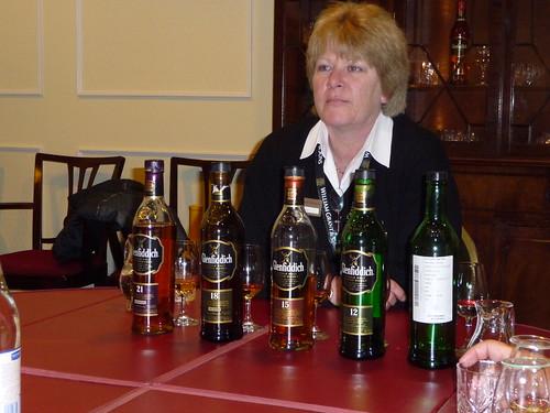 Tasting at Glenddich Distillery