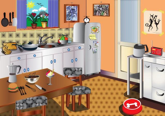 Dibujo de la cocina imagui - Dibujo de cocinas ...