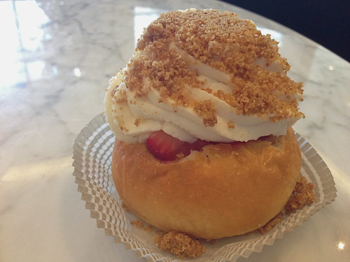 Strawberries and Cream Bun at POT Cafe