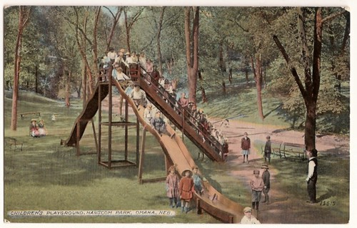 Vintage Postcard - Omaha, Nebraska - Children's Playground, Hanscom Park