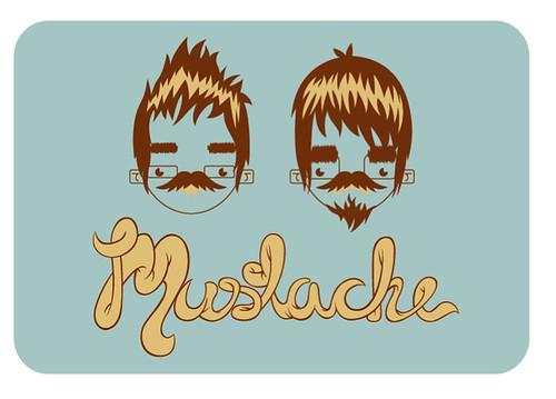 Mustache. by PHNEUTRON