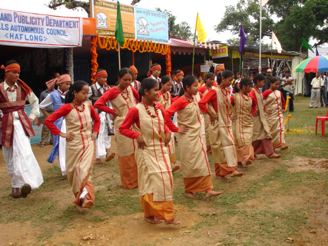 Khasi Pnar (Jaintia) Dancers
