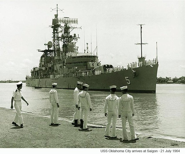1964 - USS Oklahoma City arrives at Saigon