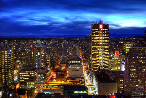 Vancouver Blue Hour (HDR) by Brandon Godfrey