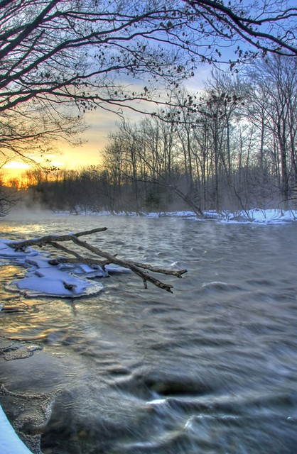 Winter Morning on the Salmon River