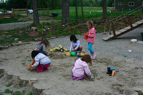working in the sandbox