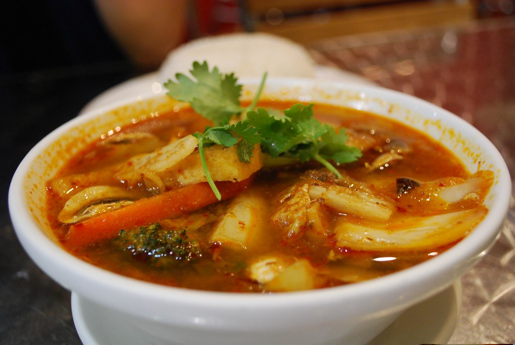 Vegetable Tom Yum Soup - i Spicy AUD6