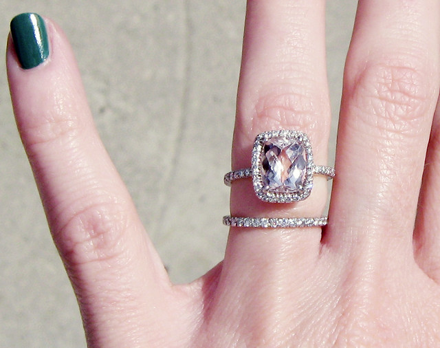 Engagement Ring With Pink Stone Pave Diamonds 10 Flickr