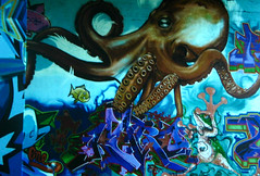 UF SignsOfLife Background Image Octopus Grafitti