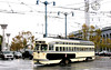 SF Muni Line F - PCC Car 1056 turning from Embarcadero on to Don Chee Way by Mega Anorak