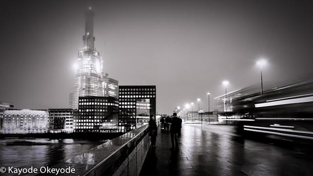 The Shard rising in the fog