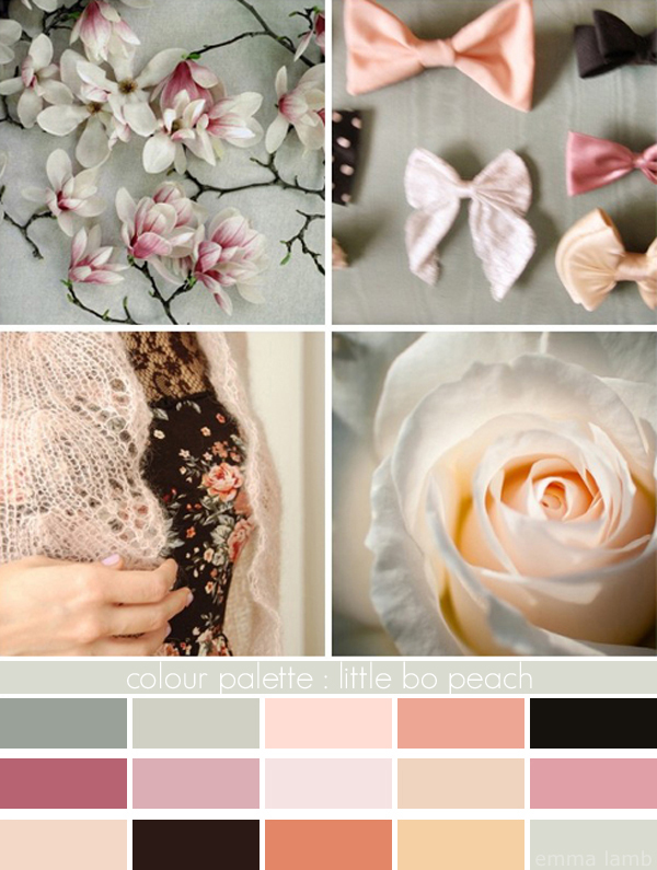 colour palette : little bo peach curated by Emma Lamb