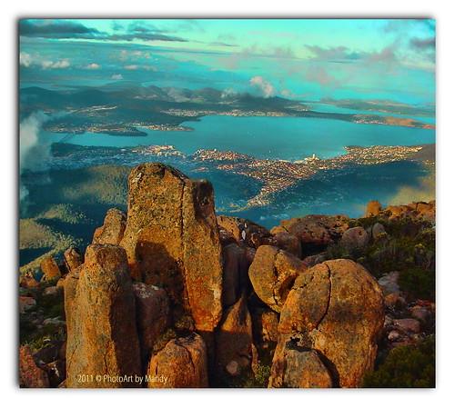 mt australia tasmania hobart wellinton photoartimages