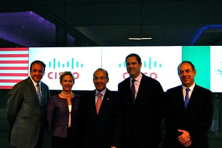 President Calderon and Cisco team