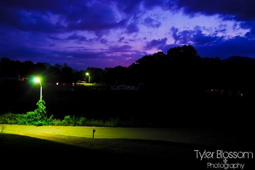 sunset streetlight asheville dusk streetlamp northcarolina nighttime candler enca thegreatsmokeymountains tylerrobertblossom tylerblossom