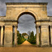 Castle Ashby House Northampton - The Triumphal Arch in the Italian Gardens