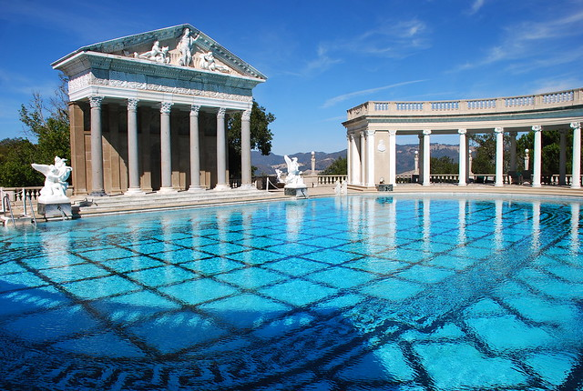 Hearst castle outdoor pool flickr photo sharing for Castle gardens pool