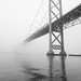 Ambassador Bridge picture in the fog by wayward_shutterbug