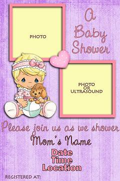 BabyShowerH Precious Moments Photo Invitation | Take a look ...: www.flickr.com/photos/43495613@N04/4146124280