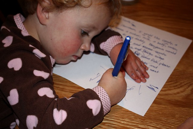 writing santa, by timlewisnm
