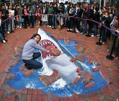 3D chalk drawings 23