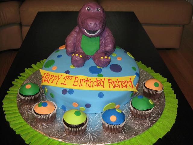 Barney Birthday Cakes Pictures