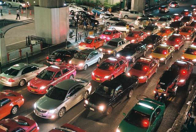 Traffic jam in Bangkok - Analog version