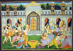holi by lord krishna