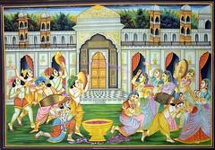 holi by lord krishna