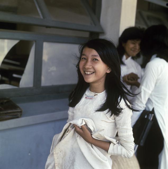 Schoolgirls, Vietnam, 1967