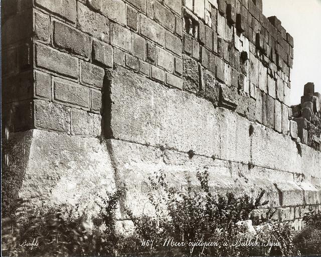 Largest Stone Blocks On Earth : S bonfils baalbek lebanon wall flickr photo