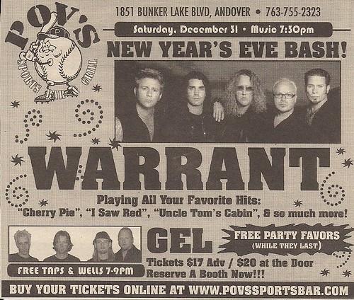 12/31/05 Warrant/Gel @ Andover, MN (Ad)