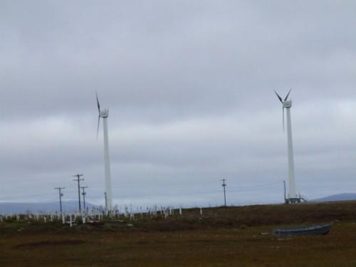 Wind Turbines & Cemetery