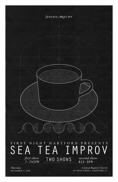 Sea Tea Improv First Night Poster