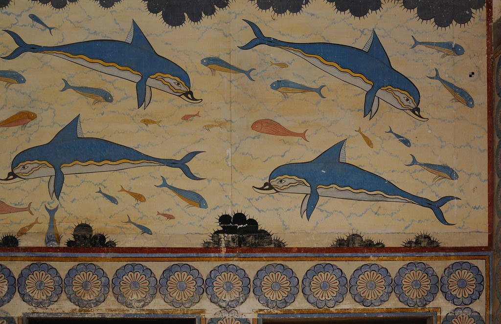 0503-20091003_Crete-Palace of Knossos-East Wing-the Queen's Megaron-the Dolphin Fresco