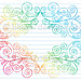 Hand-Drawn Sketchy Notebook Doodle Swirly Border Vector Illustration by blue67