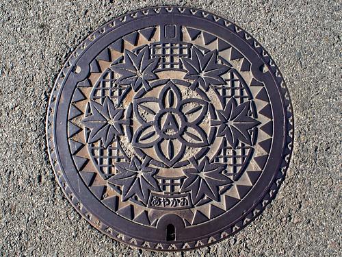 Kayak,Kagawa manhole cover(香川県綾上町のマンホール)