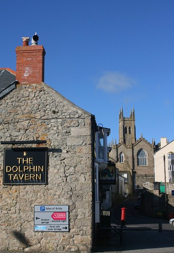 The Dolphin Tavern, Penzance Harbour by Stocker Images