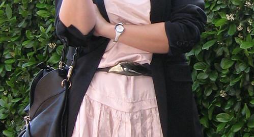 pink dress black blazer 4