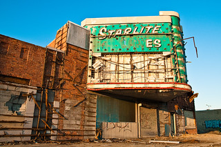 The abandoned Starlite Lanes in Detroit.