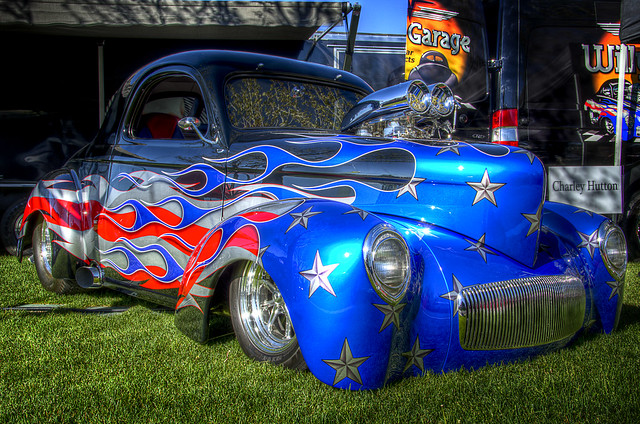 Patriotic Hot Rod - HDR