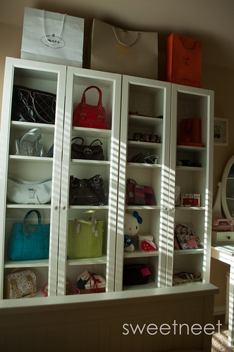 storage in a ikea pax wardrobe purseforum