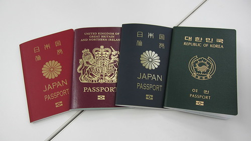 Colourful passports