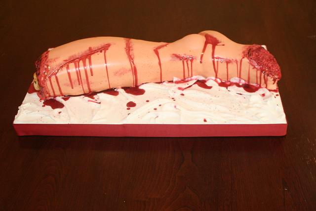 Happy Halloween Red Velvet cake with Raspberry Jam and Raspberry