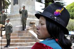 Ecuador, Cuenca - 2009. Parata militare nel Parque Calderon