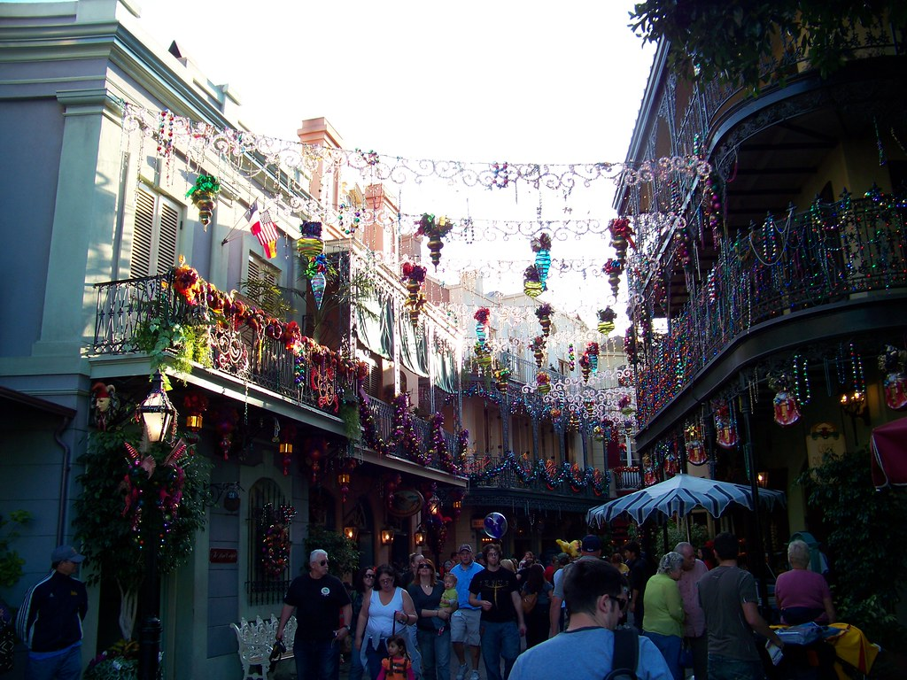 The holidays hit New Orleans Square