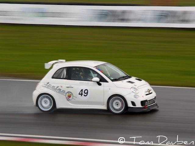 Abarth Fiat 500 Race Car Live Brands Hatch Tom Dauben