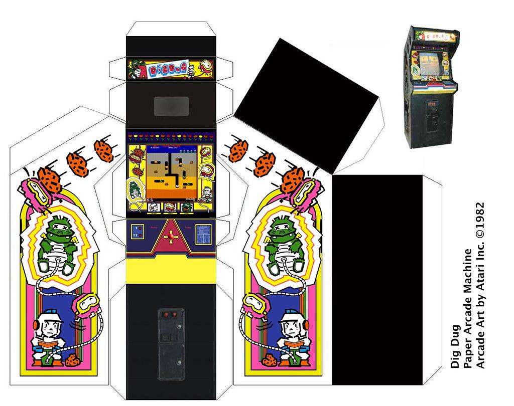 Dig-Dug paper arcade machine - a photo on Flickriver