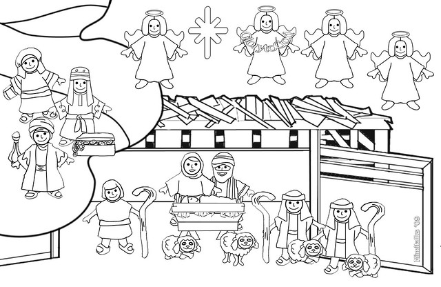 empty manger coloring pages - photo#14