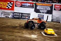 stock car racing(0.0), rallycross(0.0), sprint car racing(0.0), formula one(0.0), auto racing(1.0), automobile(1.0), racing(1.0), sport venue(1.0), vehicle(1.0), sports(1.0), race(1.0), dirt track racing(1.0), motorsport(1.0), off-roading(1.0), monster truck(1.0), race track(1.0),
